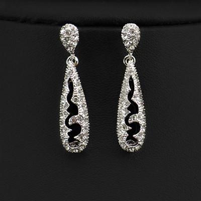 18K Gold Plated Hollow Teardrop Earrings