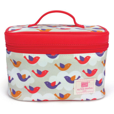 Travel Cosmetic Bag (with mirror) - Bird