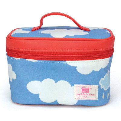 Travel Cosmetic Bag (with mirror) - Cloud