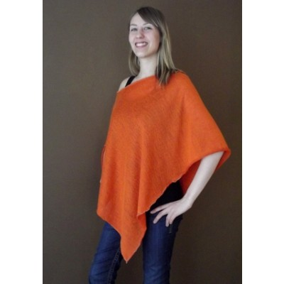 Orange Italian Modal Knit Poncho