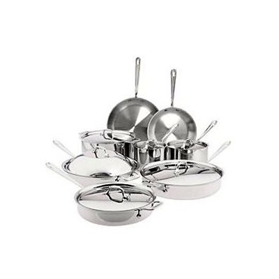 All-Clad Tri-Ply Stainless Cookware Set - 14 pcs