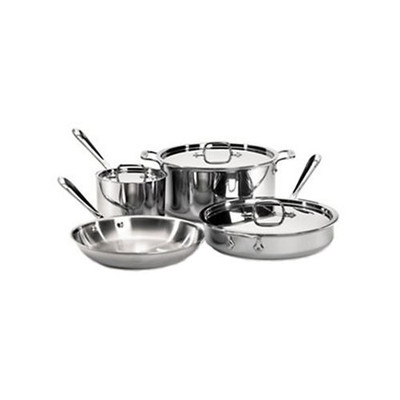 All-Clad Tri-Ply Stainless Cookware Set -  7 pcs