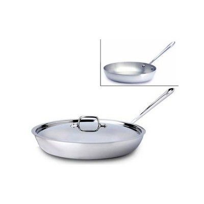 "All-Clad Tri-Ply Stainless French Skillet - 13"" - w/Lid"