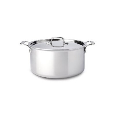 All-Clad Tri-Ply Stainless Stock Pot -  8 qt