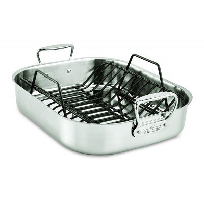 All-Clad Stainless Roasting Pan - 13 x 16 - with Rack