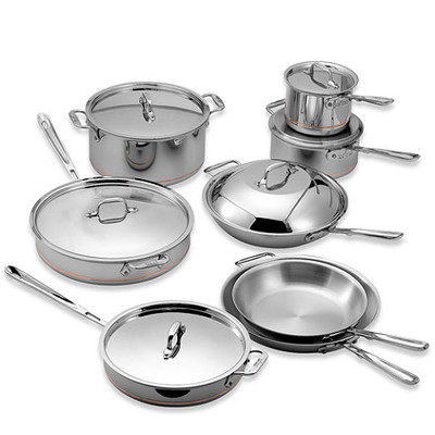 All-Clad Copper Core Cookware Set - 14 pcs