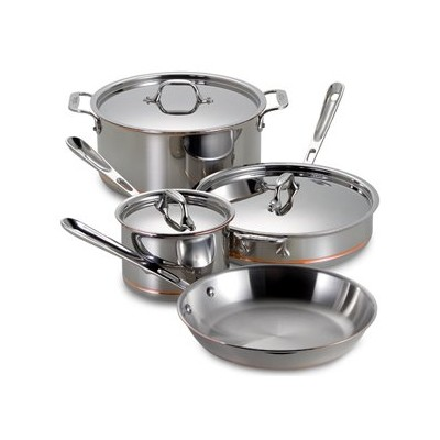 All-Clad Copper Core Cookware Set -  7 pcs