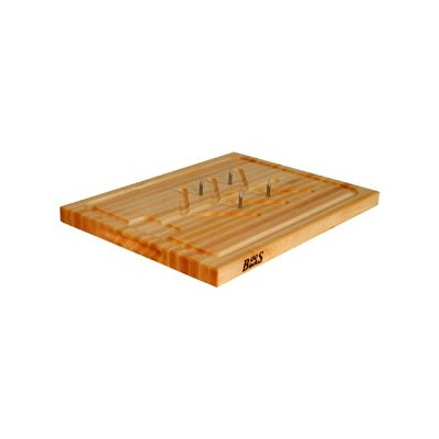 BoosBlock Carving Board - Maple - 15 x 20 - Pins