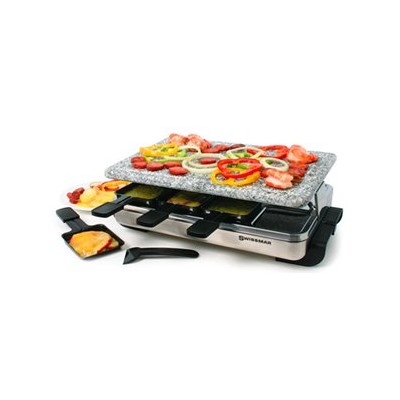 Swissmar Stelvio Raclette with Hot Stone - Stainless steel