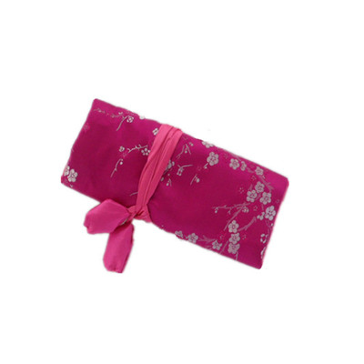 Silk Jewelry Travel Organiser - Hot Pink Color