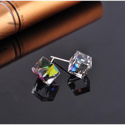 Square Prism Austrian Crystal Studs