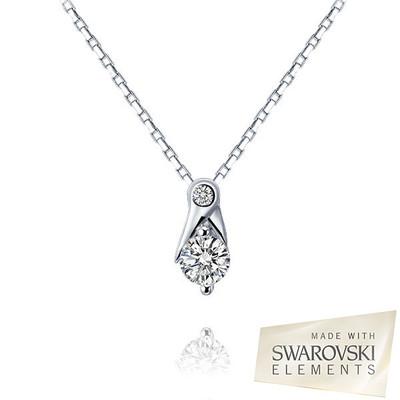 Lumax  Swarovski Embellished Double Round Cut Crystal Pendant.