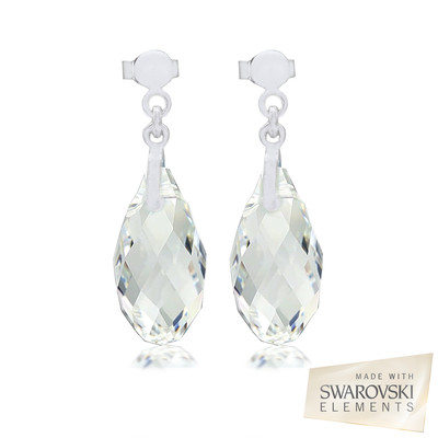Swarovski® Embellished Briolette Crystal Earrings.