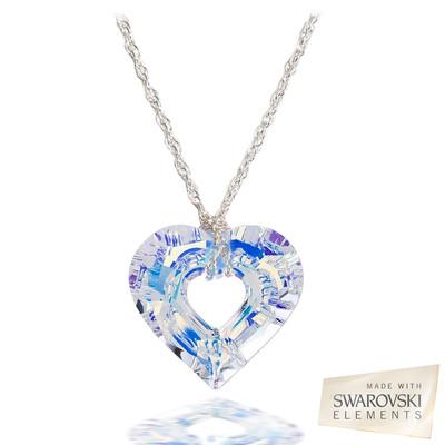 Swarovski® Embellished Crystal Miss U Heart Pendant