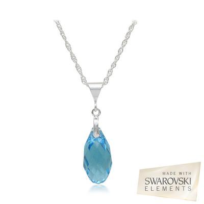 Swarovski Embellished Aquamarine Crystal Pendant.