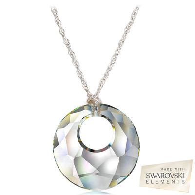 "Swarovski Elements "" Victory "" Crystal Pendant Sterling Silver 18 Inches"