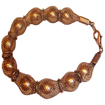 MESH BRACELET IN CHOCOLATE BROWN COLOUR