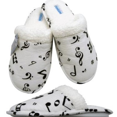 Slippers Aim Flannel w/Music Notes - Large - Aim - 37840L