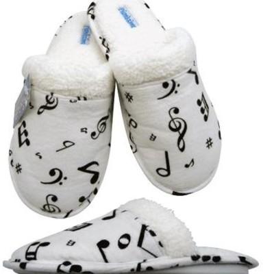 Slippers Aim Flannel w/Music Notes - XL - Aim - 37840XL