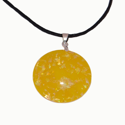 YELLOW MOON NECKLACE