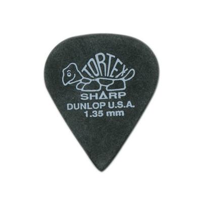 Dunlop Tortex Sharp Guitar Picks - 1.35mm, 12 Pack - Jim Dunlop - 412P1.35