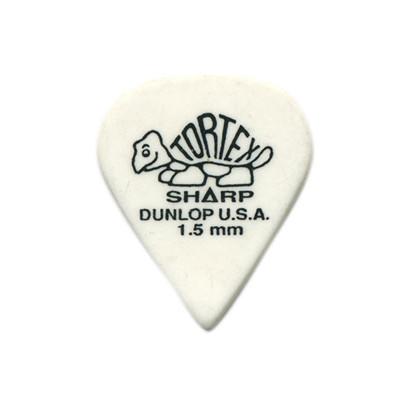 Dunlop Tortex Sharp Guitar Picks - 1.5mm, 12 Pack - Jim Dunlop - 412P1.50