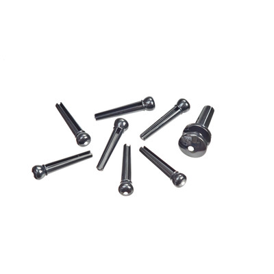 Planet Waves PWPS10 Molded Bridge Pins with End Pin Set - Ebony with Ivory Dot - Planet Waves - PWPS10