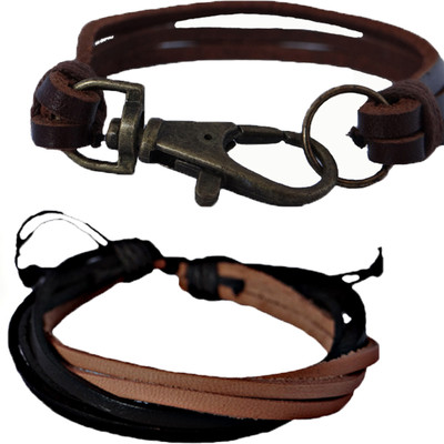 SET OF 2 LEATHER BRACELETS