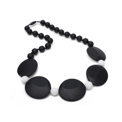 Bold Chic Teething Necklace - Black & White