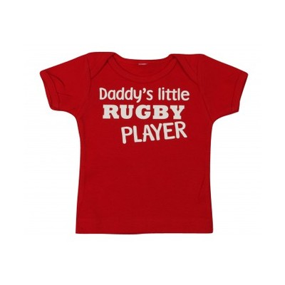 Rugby Canada Baby T-Shirt: Daddy's Little Rugby Player
