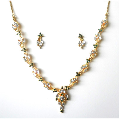 Ovals Bouquet Necklace Set + FREE Gift