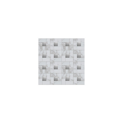 Instant Mosaic Faux White Amp Silver Marble Peel And