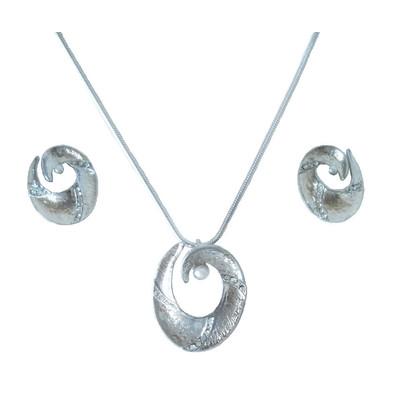 Swirl & Pearl Pendant Set + FREE Gift
