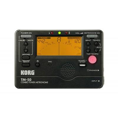 Combo Tuner Metronome + Contact Microphone - Black - Korg - TM50C-BK