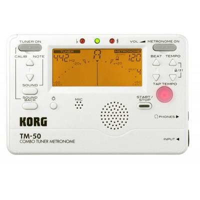 Korg Combo Tuner Metronome + Contact Microphone - Korg - TM50C-PW