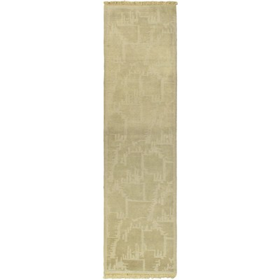 "eCarpetGallery Hand-knotted Aurora Gray Rug - 2'7"" x 9'9"""