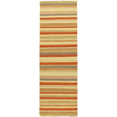 """eCarpetGallery Flat-weave Kaleidoscope Cream Kilim - 2'8"""" x 8'2"""""""