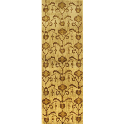 "eCarpetGallery Machine made Ikat Vine Light Brown Rug - 2'8"" x 7'8"""