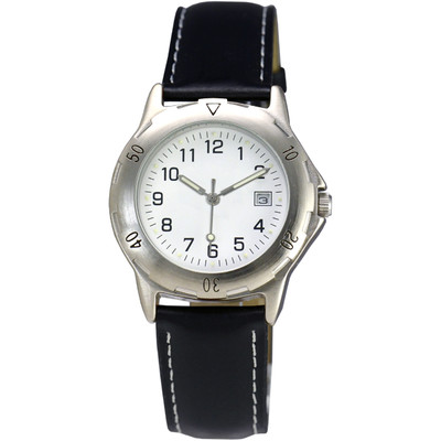 MATSUDA Watch Muscular Men  - White with Leather Strap