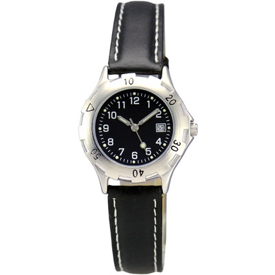 MATSUDA Watch Muscular Ladies - Black with Leather Strap