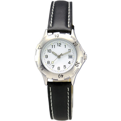 MATSUDA Watch Muscular Ladies - White with Leather Strap