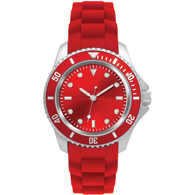 Matsuda Watch Flashy Silicon Strap - Unisex Small Size Red