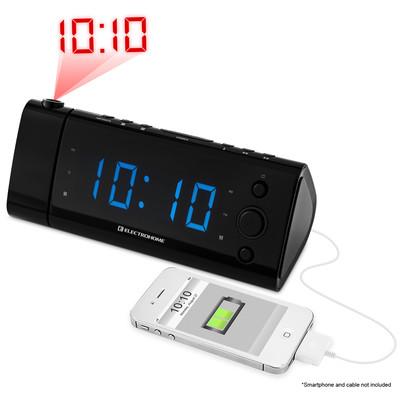 Electrohome USB Charging Alarm Clock Radio - EAAC475