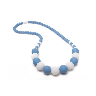 Boutique Chic Teething Necklace - Blue & White
