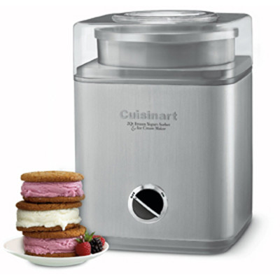 Cuisinart Pure Indulgence Frozen Yogurt, Ice Cream & Sorbet Maker, Brushed Chrome (ICE-30BCC)