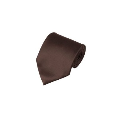 2 X Casual Stylish Slim Necktie (Skinny Tie) - Brown Color