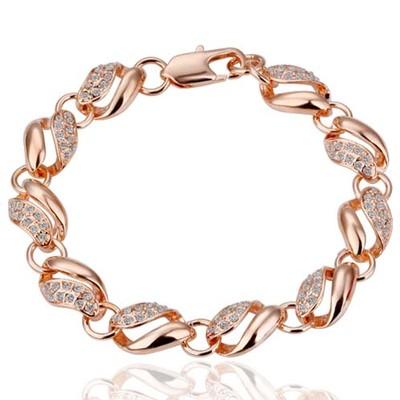 18K Gold Plated Link Chain Bracelet