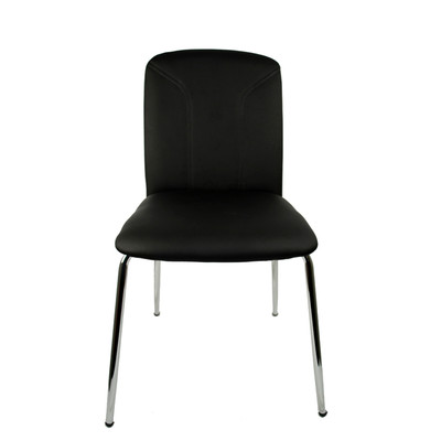 RetailPlus Set of Two Dining Chair 2-82 - Black