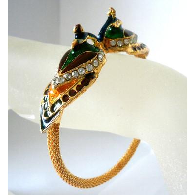Peacock Motif Flex Bangle Bracelet + FREE Gift