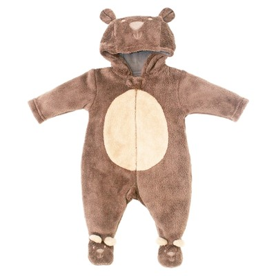 Newborn Neutral Onesie with Hood - Bear Plush newborn costumes Sleeper
